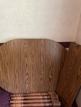 wood table with Leaf in Fort Polk, Louisiana