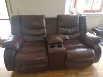 Leather Couch and Love Seat in Grafenwoehr, GE