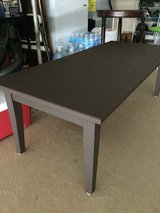 Small wooden brown coffee table in Fort Bragg, North Carolina