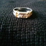 Silver/gold costume ring size 11 in Fort Polk, Louisiana