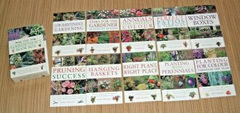 The Gardeners Book Box 10 Books Window Boxes Baskets Patio Pruning Annuals in Plainfield, Illinois