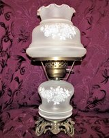 Vintage Glass Dresser Lamp 2 Bulbs, Light Individually and Together Barely Used in Joliet, Illinois