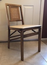 Mid-Century *VINTAGE STAKMORE* FOLDING CHAIR, w/ wood frame, cane back, padded seat in Yucca Valley, California