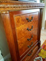 Tall Antique Mahogany Dresser Chest with 5 drawers in Melbourne, Florida