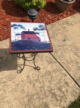 hand painted plant stand in Aurora, Illinois