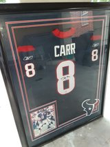 Houston Texas David Carr Autographed Jersey Framed in The Woodlands, Texas