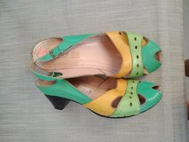 Cute real leather sandals with fun colors in Tampa, Florida