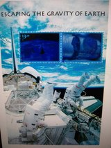 Year 2000 USPS Escaping the Gravity of Earth Stamps in Wiesbaden, GE