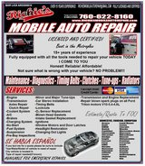 Richie's Mobile Auto Repair  fully licensed all of North county cities and state in Camp Pendleton, California