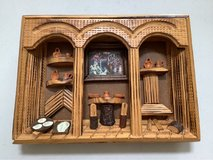 Mexico Mexican Wood Wall Hanging Art Rustic  13 X 9 1/2 in Joliet, Illinois