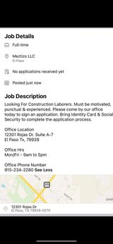 Labor workers needed ASAP in Fort Bliss, Texas