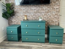 Emerald green bedroom set with night stands and dresser in Colorado Springs, Colorado