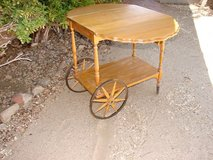 Pine Folding Table Tea Cart in Yucca Valley, California
