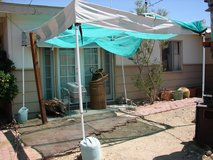 EurMax 10' x 10' Farmers' Market Tent Frame with 4 Sandbags & Leg Plates in Yucca Valley, California