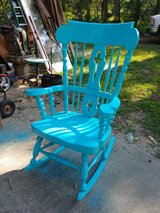 large heavy rocker. Great for a covered porch. Also have toddler rocker in The Woodlands, Texas