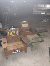 2 kids all wood table & chairs with cup holders in The Woodlands, Texas