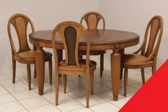 Freddy's - Art Deco table + 4 chairs in Spangdahlem, Germany