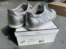 Coach Silver Canvas Shoes Sneaker Woman Size 8.5 A1301 in Bolingbrook, Illinois