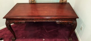 Carved wood desk in The Woodlands, Texas