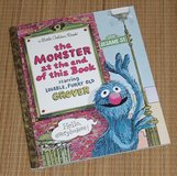 Vintage 1999 Sesame Street The Monster at the End of this Book A Little Golden Book Grover in Joliet, Illinois