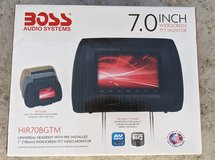 BOSS Audio HIR70BGTM 7 Inch Headrest Car Monitor (2 available) in Vacaville, California