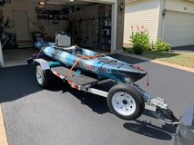 Vibe Seaghost 130 Kayak with Trolling motor and Battery in Plainfield, Illinois