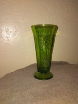 Pedestal Vase • green glass • Embossed Grape Clusters • 8-inches tall in Fort Hood, Texas