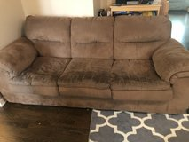 Brown microfiber couch-great for college! in Glendale Heights, Illinois