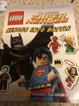 Lego DC super heroes sticker book Like New in St. Charles, Illinois