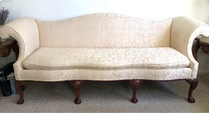 CLAWFOOT CHIPPENDALE SOFA in Toms River, New Jersey