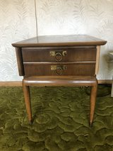 Vintage end table with drawer in Bolingbrook, Illinois