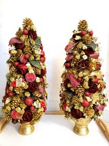Two Decorative Christmas Trees in Plainfield, Illinois
