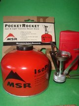 MSR Pocket Rocket Cannister Mount Stove IsoPro Cannister 1qt White Gas Fuel in Joliet, Illinois