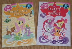 2 My Little Pony Books Ponies Love Pets & Hearts and Hooves Level 1 Reading in Bolingbrook, Illinois
