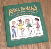Anna Banana 101 Jump Tope Rhymes Hard Cover Book w Dust Jacket in Joliet, Illinois