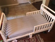 Toddler bed with mattress - white in The Woodlands, Texas