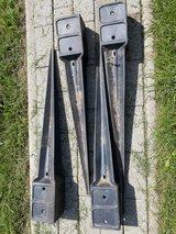 Ground impact sleeve post holder for wooden posts 9 x 9 cm - Set of 4 in Ramstein, Germany