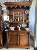 beautiful Art Nouveau dining room hutch with facetted glass in Spangdahlem, Germany
