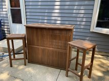 Outdoor Bar and 2 matching stools in Plainfield, Illinois