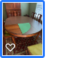 Antique Mahagamy/Cherry American-made Dining Table and Chairs in The Woodlands, Texas