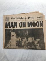 The Pittsburgh Press July 21 1969 historic Man on the Moon in Kingwood, Texas