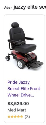 Jazzy Select Elite Motorized Scooter - Like New in Yucca Valley, California