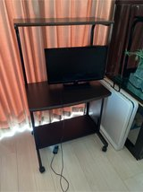 Rolling Desk and TV in Okinawa, Japan