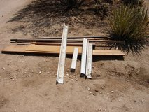 """8 ft fir wood board, 3 8x1.5"""" fir, 1/4"""" hardware cloth & poultry fencing in Yucca Valley, California"""