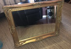 Vintage gold ornate mirror in Yucca Valley, California