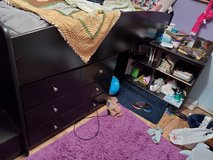 Loft Bed with Bookcase and Dresser in Silverdale, Washington