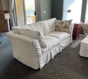 Cream Colored overstuffed couch in Nellis AFB, Nevada