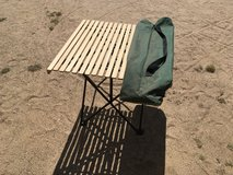Camping Table with wood top in Yucca Valley, California