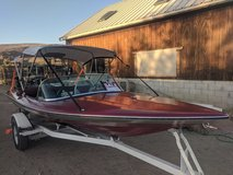 price reduce $1000. 16' checkmate motor boat with trailer and 85 horse 2 stroke lots of upgrades in Yucca Valley, California