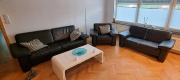 Three piece leather living room set. in Ramstein, Germany